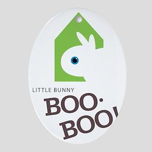 Little Bunny Boo Boo Oval Ornament