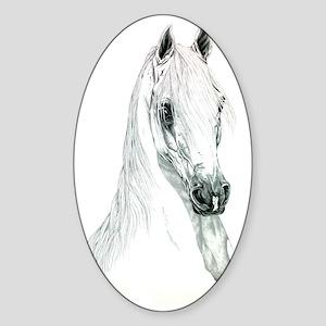 Arabian Spirit Horse Art Sticker (Oval)