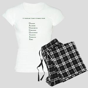 It took me 2 days to bang y Women's Light Pajamas