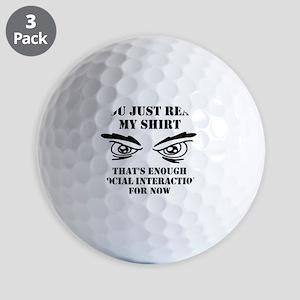 Social Interaction Funny T-Shirt Golf Balls