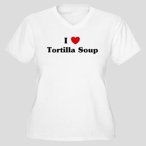 I love Tortilla Soup Women's Plus Size V-Neck T-Sh