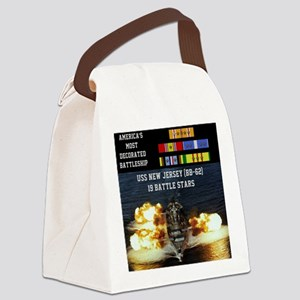 USS NEW JERSEY (BB-62) Canvas Lunch Bag