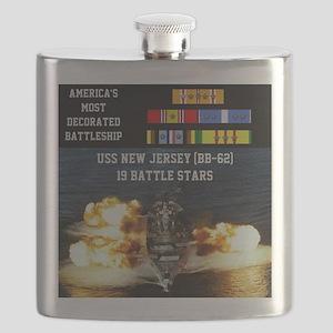 USS NEW JERSEY (BB-62) Flask