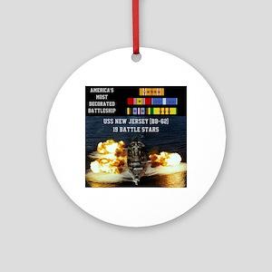 USS NEW JERSEY (BB-62) Round Ornament