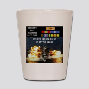 USS NEW JERSEY (BB-62) Shot Glass