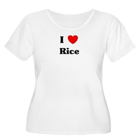 I love Rice Women's Plus Size Scoop Neck T-Shirt