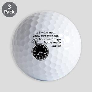 At Work Wait Funny T-Shirt Golf Balls
