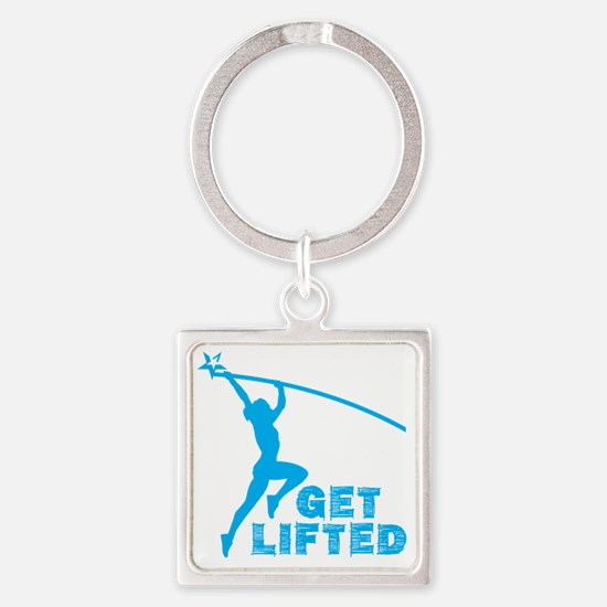 Womens Get Lifted Square Keychain