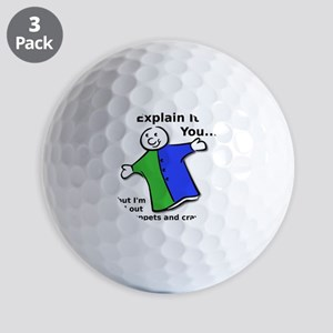 Explain With Crayons and Puppets Funny  Golf Balls