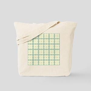 Retro Flower Pattern Tote Bag