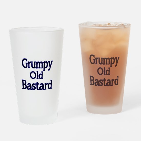 Grumpy old Bastard Drinking Glass