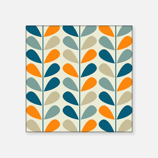 "Retro Pattern Square Sticker 3"" x 3"""