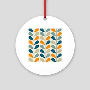 Retro Pattern Round Ornament