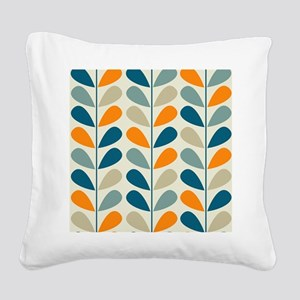 Retro Pattern Square Canvas Pillow