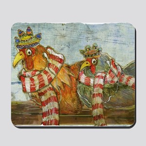 Chickens with Scarves - Laptop Skin Mousepad