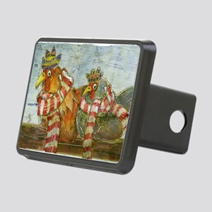 Chickens with Scarves - La Rectangular Hitch Cover