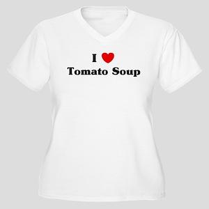 I love Tomato Soup Women's Plus Size V-Neck T-Shir