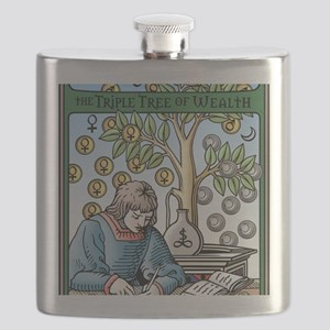 Triple Tree of Wealth Talisman Flask
