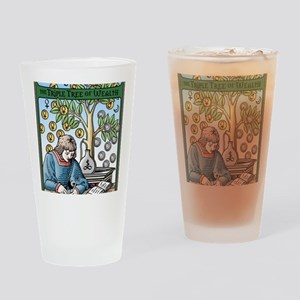 Triple Tree of Wealth Talisman Drinking Glass