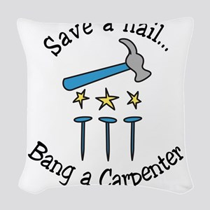 Save A Nail Woven Throw Pillow