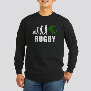 Rugby Kick Evolution (Green) Long Sleeve T-Shirt