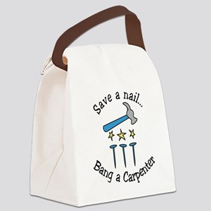 Save A Nail Canvas Lunch Bag