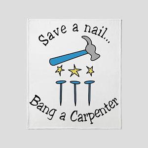 Save A Nail Throw Blanket