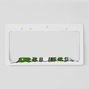 Reindeer Scene License Plate Holder