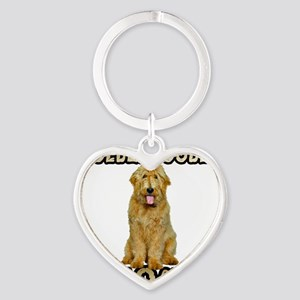 Goldendoodle Mom Heart Keychain