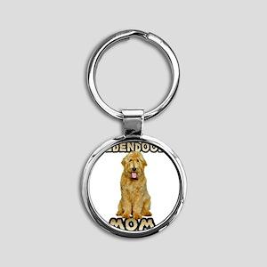 Goldendoodle Mom Round Keychain