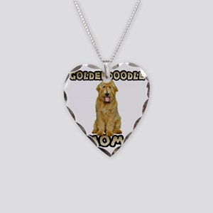 Goldendoodle Mom Necklace Heart Charm