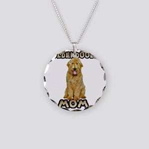 Goldendoodle Mom Necklace Circle Charm