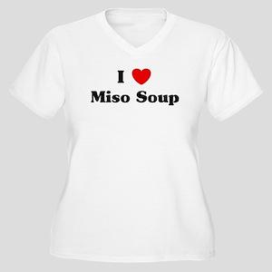 I love Miso Soup Women's Plus Size V-Neck T-Shirt