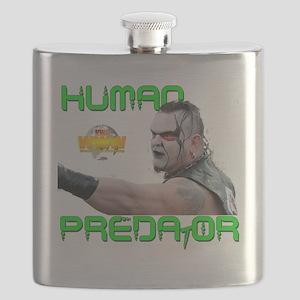 Human Predator NWA World Wide Wrestling Flask