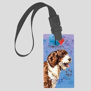 Spanish Water Dog Large Luggage Tag