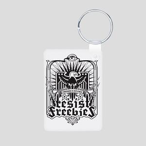 Resist Freebies Aluminum Photo Keychain