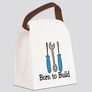 Born To Build Canvas Lunch Bag
