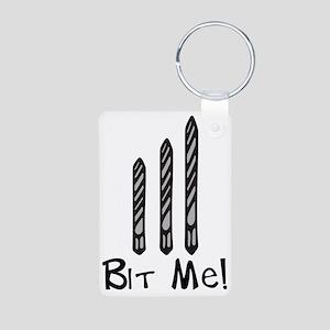 Bit Me Aluminum Photo Keychain