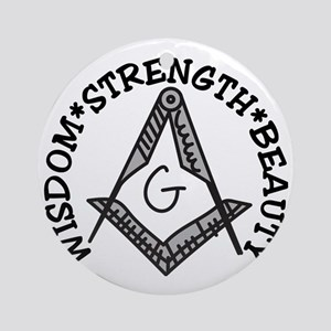 Wisdom Strength Beauty Round Ornament