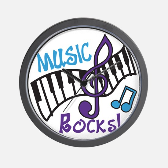 Music Rocks Wall Clock