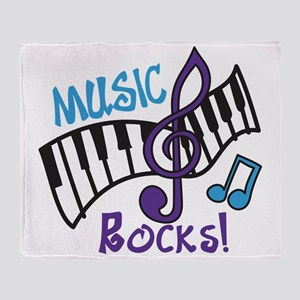Music Rocks Throw Blanket