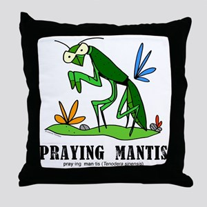 Cartoon Praying Mantis by Lorenzo Throw Pillow