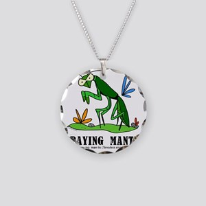 Cartoon Praying Mantis by Lo Necklace Circle Charm
