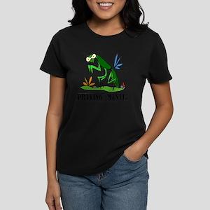 Cartoon Praying Mantis by Lor Women's Dark T-Shirt