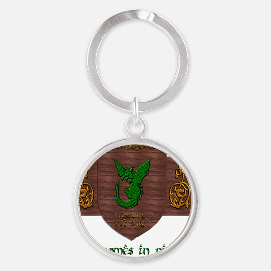 It Comes In Pints! Green Dragon Round Keychain