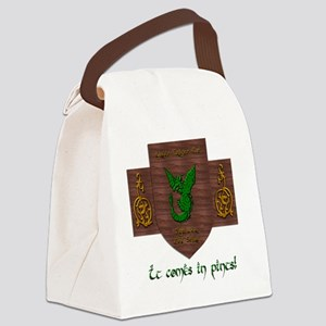 It Comes In Pints! Green Dragon Canvas Lunch Bag