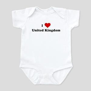 I Love United Kingdom Infant Bodysuit