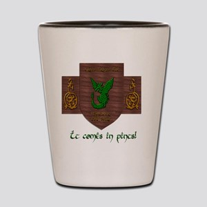 It Comes In Pints! Green Dragon Shot Glass