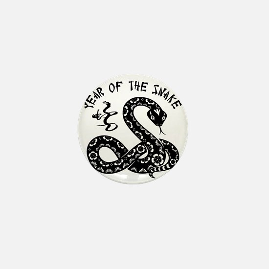 Year Of The Snake Mini Button