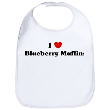 I love Blueberry Muffins Bib